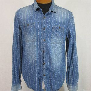 DenimHead Faded Pattern Button Front Shirt